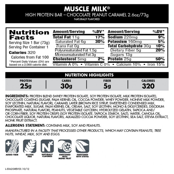 Carbs in muscle milk